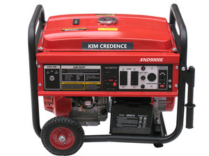 JW9500 7.5KW Gasoline generator sets (With recoil start+Single phase+wheel and handles)