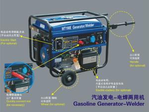 WT-190E 3.5KW Gasoline generator-welder